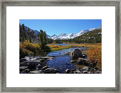 Creek At Little Lake Valley Framed Print