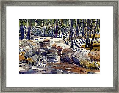 Creek At Tuolume Meadows Framed Print