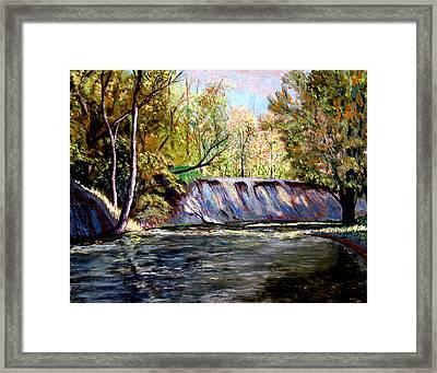 Creek Bank Framed Print by Stan Hamilton