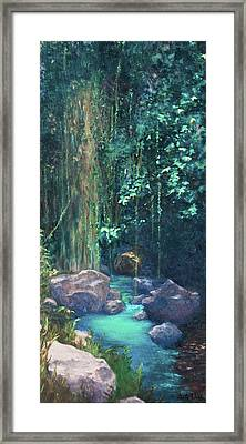 Framed Print featuring the painting Creek Chincultik by Carla Woody