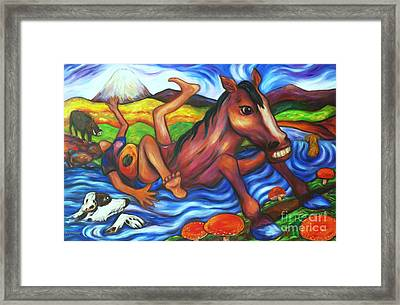 Creek Crossing Gone Wrong Framed Print by Dianne  Connolly
