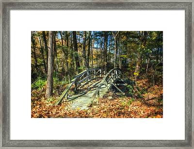 Creek Crossing Framed Print by Tom Mc Nemar