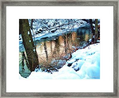 Creek In Bath Ohio Framed Print