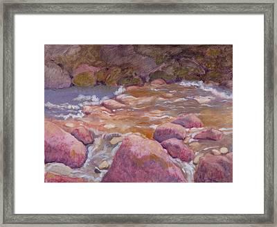 Creek In Spring Framed Print by Robert Bissett