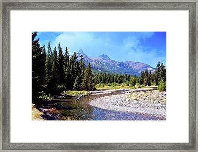 Creek In The Beartooths Framed Print by Marty Koch