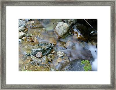 Creek On Mt Tamalpais Framed Print by Ben Upham III