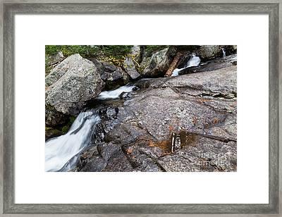 Creek Over Rocky Cascade Falls Framed Print by Mike Cavaroc