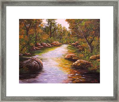 Creek Retreat Vii Framed Print by Connie Tom