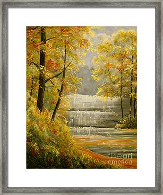Creek Retreat Xii Framed Print by Connie Tom