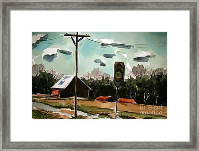 Creek Road Turn Framed Print