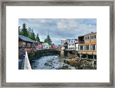 Creek Street In Ketchikan 4 Framed Print by Mel Steinhauer