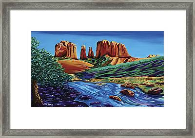 Creekside Cathedral Pano Framed Print by Clark Sheppard