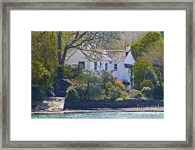 Creekside Cottage Framed Print