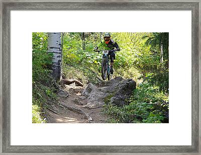Creekside Rock #59 Framed Print by Matt Helm
