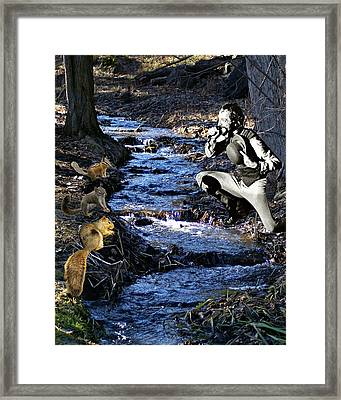 Framed Print featuring the photograph Creekside Serenade By Ian by Ben Upham