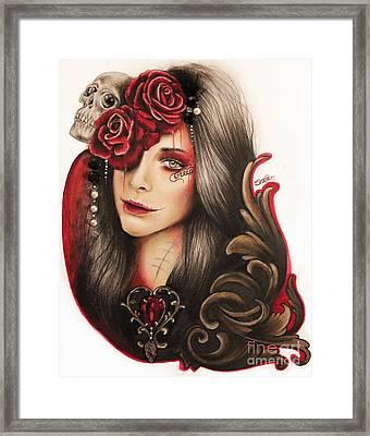 Creep  Framed Print by Sheena Pike