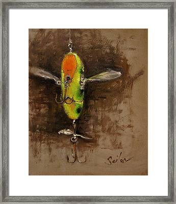 Creeper Muskie Lure Framed Print by Larry Seiler