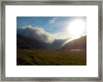 Creeping Evening Clouds Framed Print by Sidsel Genee
