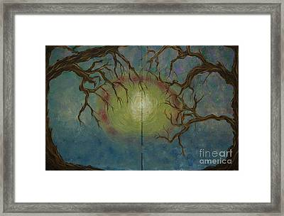 Creeping Framed Print by Jacqueline Athmann