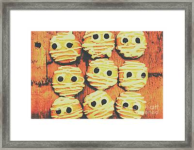 Creepy And Kooky Mummified Cookies  Framed Print