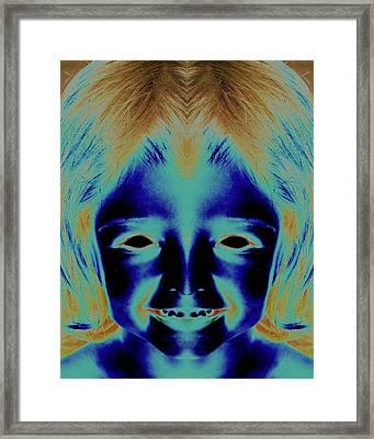 Creepy Daughter 2 Framed Print by Tisha Beedle