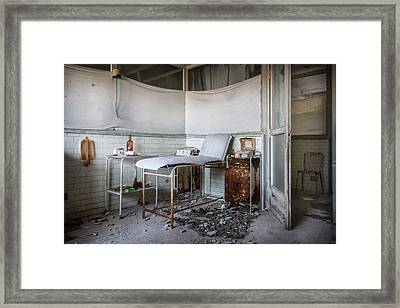 Creepy Exammination Room - Abandoned School Building Framed Print by Dirk Ercken