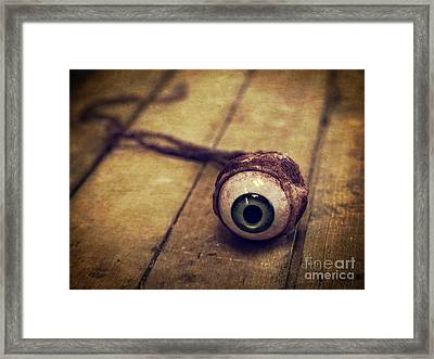 Creepy Eyeball Framed Print by Edward Fielding