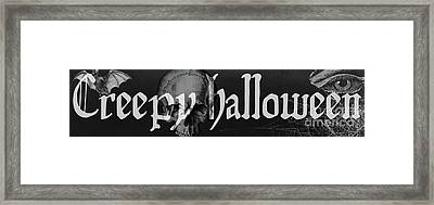 Creepy Halloween Framed Print by Mindy Sommers