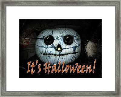 Creepy Halloween Pumpkin Framed Print
