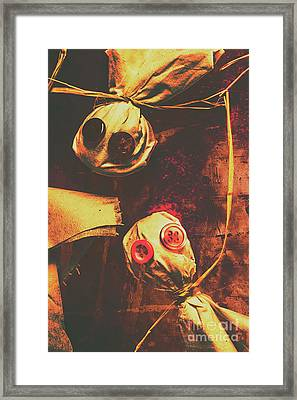 Creepy Halloween Scarecrow Dolls Framed Print