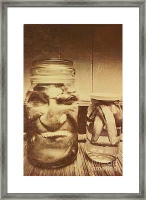 Creepy Halloween Scenes Framed Print