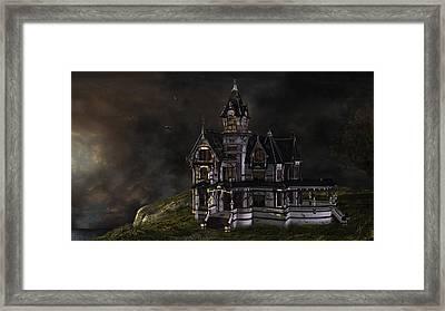 Creepy Mansion Framed Print by Marie-Pier Larocque