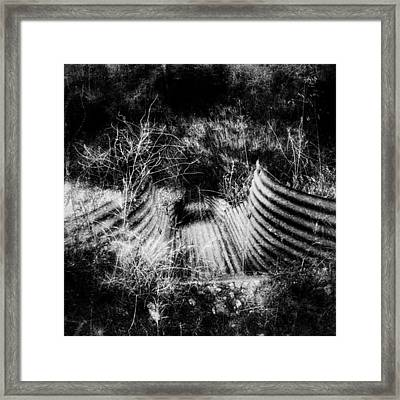 Creepy Runoff Drain Framed Print