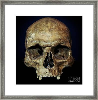 Creepy Skull Framed Print