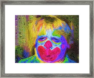 Creepy The Clown Framed Print by Deborah MacQuarrie-Haig