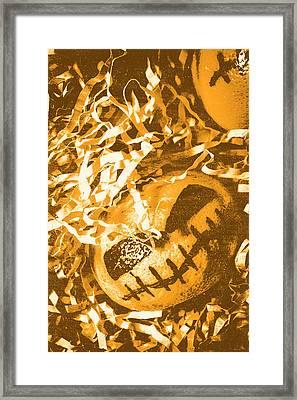 Creepy Vintage Pumpkin Head  Framed Print by Jorgo Photography - Wall Art Gallery