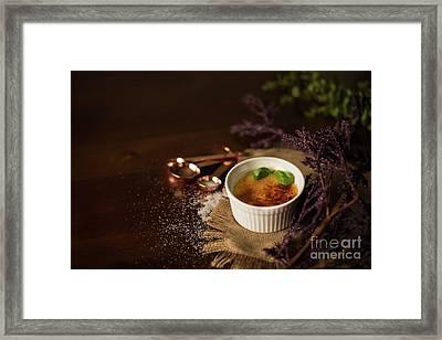 Creme Brulee  Framed Print by Taylor Martinsen