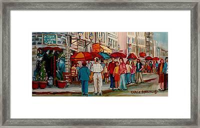 Creme De La Creme Cafe Framed Print by Carole Spandau