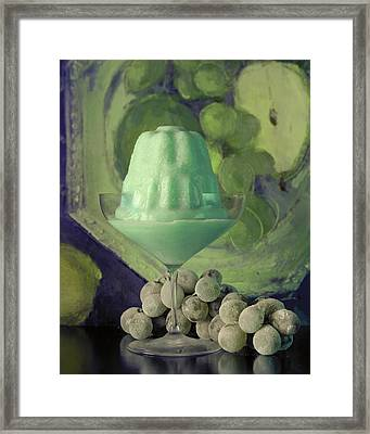 Creme De Menthe With Grapes Framed Print by Fotiades