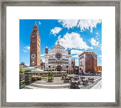 Cremona Market Square With Cathedral Framed Print