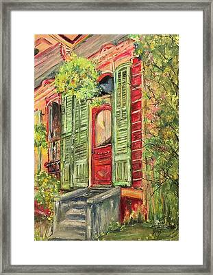 Creole Painted Lady In The Marigny Framed Print