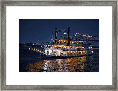 Creole Queen Riverboat Framed Print by Bonnie Barry