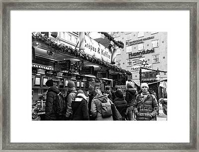 Crepes And Kaffee In Munich Framed Print by John Rizzuto