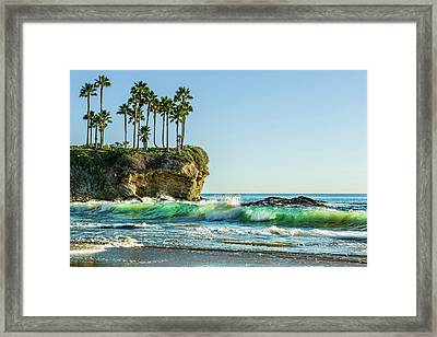Crescent Bay Framed Print by Kelley King