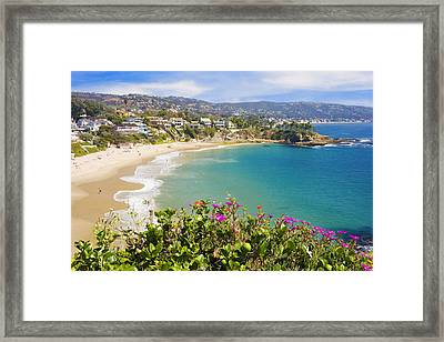 Crescent Bay Laguna Beach California Framed Print