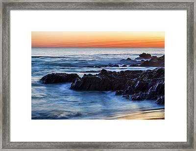 Crescent Bay Rocks Framed Print