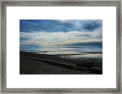 Crescent Beach At Dusk Framed Print