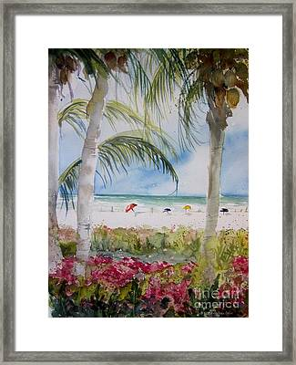 Crescent Beach Marco Island Framed Print by Sandra Strohschein