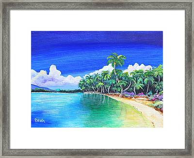 Framed Print featuring the painting Crescent Beach by Patricia Piffath