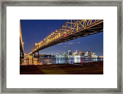 Crescent City Bridge, New Orleans Framed Print